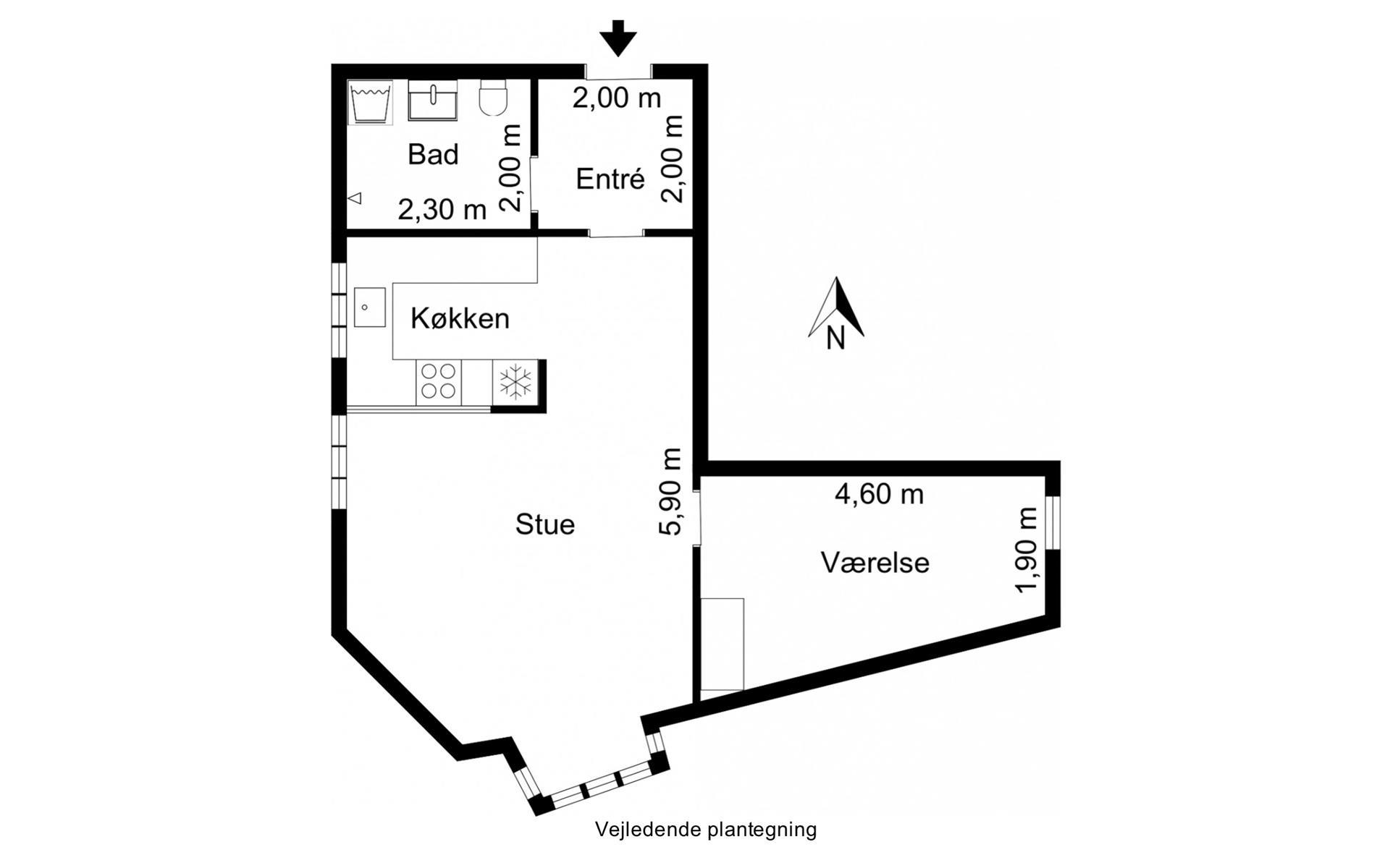 Andelsbolig på Emil Bojsens Gade i Horsens - Plantegning