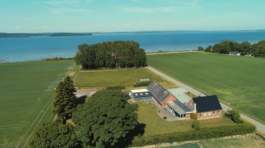 Villa på Nørremarksvej i Horsens - Luftfoto
