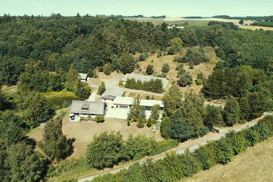 Landejendom på Sorthøjvej i Horsens - Luftfoto
