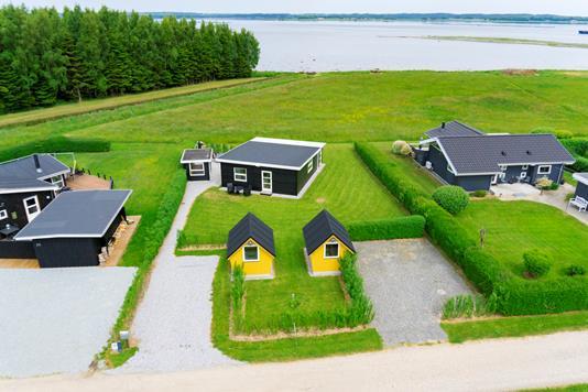 Fritidsbolig på Pilevænget i Juelsminde - Luftfoto