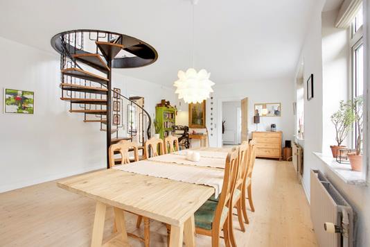 Villa på Vesterløkke i Bjert - Stue