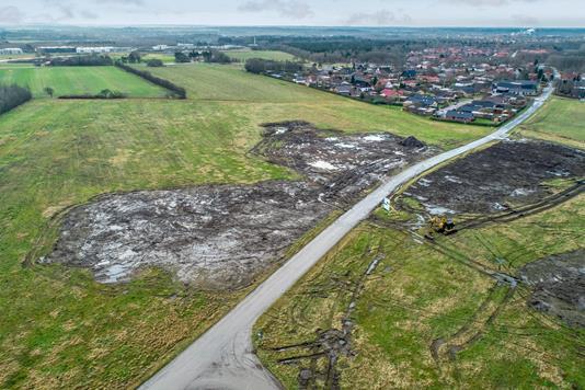 Helårsgrund på Tvillingerne i Holstebro - Luftfoto