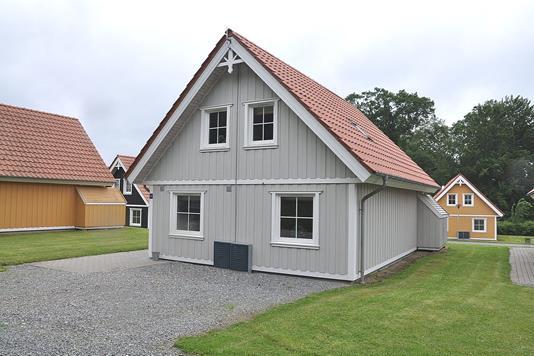 Fritidsbolig på Marina Fiskenæs Feriepark i Gråsten - Bag facade