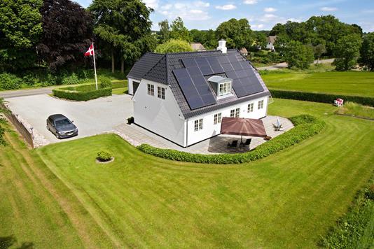 Villa på Barsmark Bygade i Aabenraa - Set fra haven