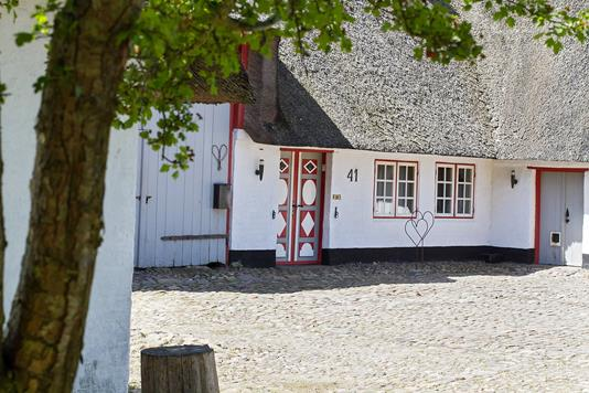 Landejendom på Røllum Bygade i Aabenraa - Gårdsplads