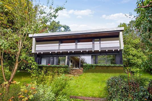 Villa på Bjerggade i Aabenraa - Set fra haven