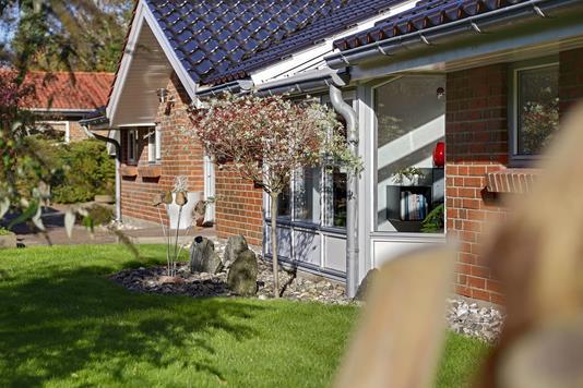 Villa på Rugmarken i Rødekro - Set fra haven