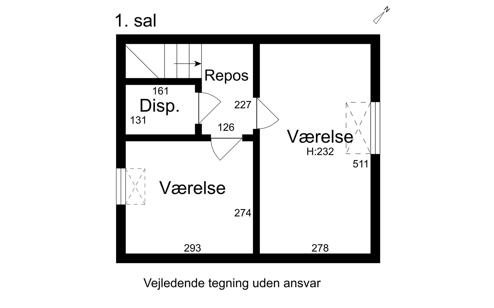 Andelsbolig på Stigsager i Kalundborg - 1. sal