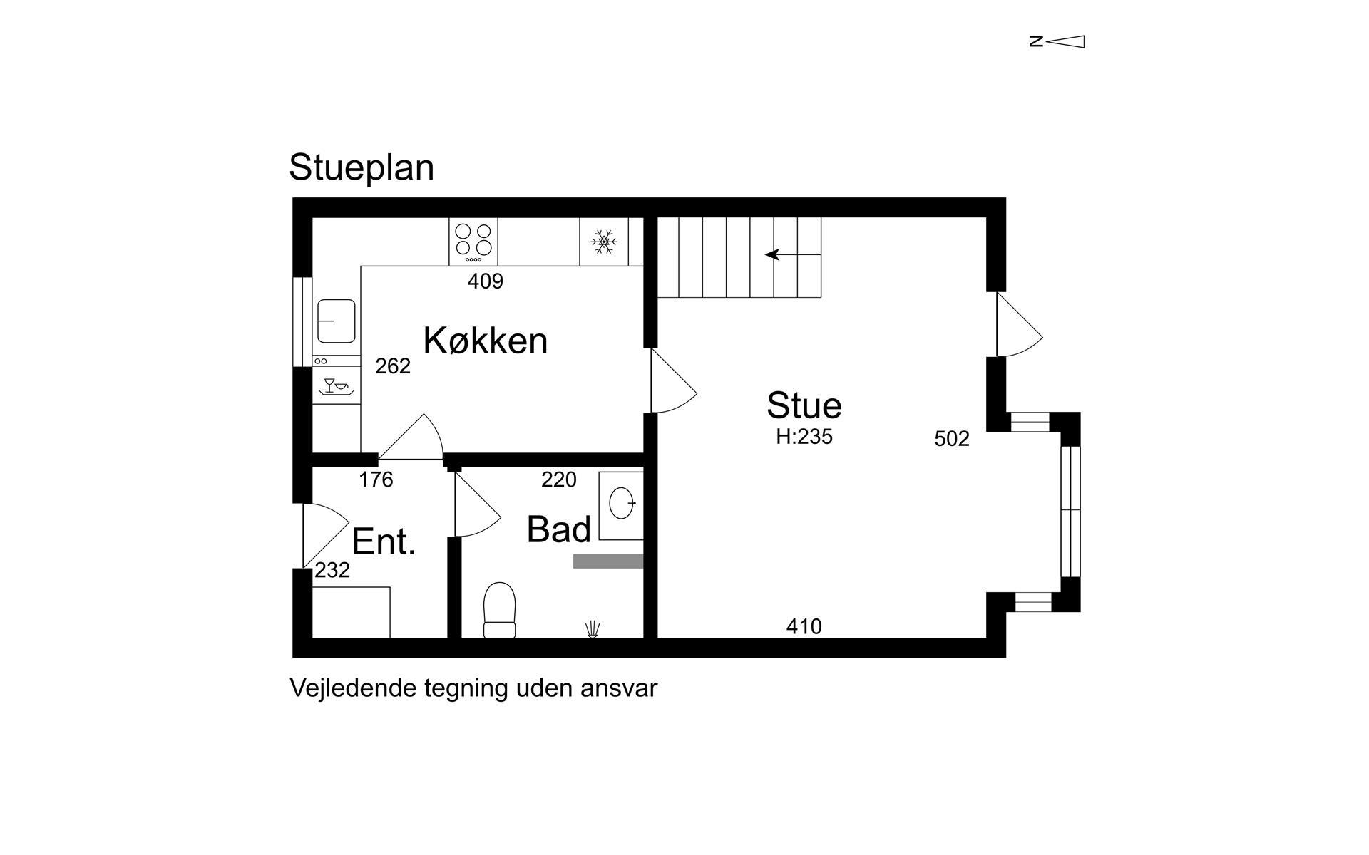 Andelsbolig på Lyngstræde i Føllenslev - Stueplan
