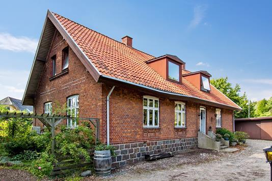 Villa på Hovedgaden i Jerslev Sjælland - Set fra haven