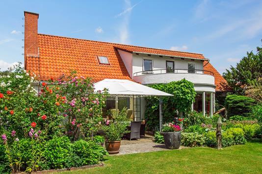 Villa på Hovvej i Jerslev Sjælland - Set fra haven