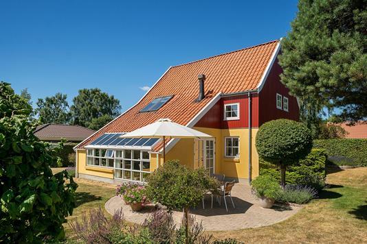 Villa på Skolevænget i Kalundborg - Set fra haven