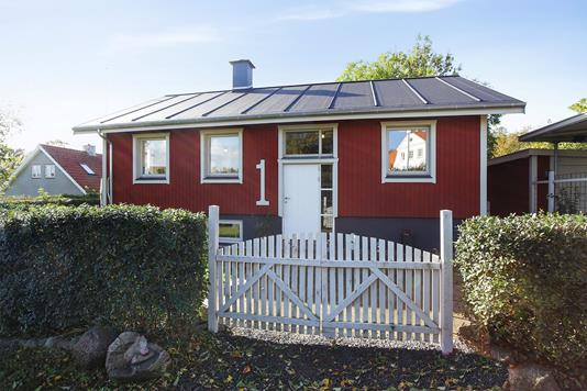 Villa på Møllevej i Jerslev Sjælland - Set fra vejen