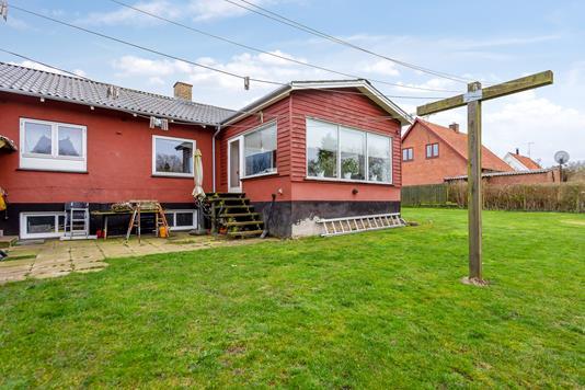 Villa på Vænget i Eskebjerg - Set fra haven