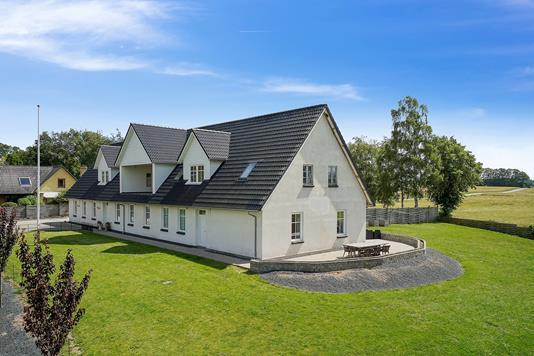 Villa på Tyvelse Bygade i Glumsø - Set fra haven