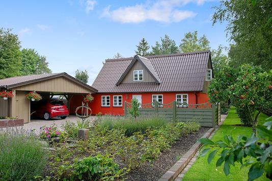Villa på Dystedvej i Holmegaard - Set fra haven