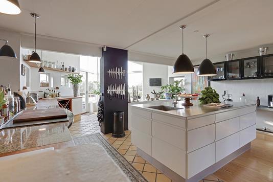 Villa på Udsigtsbakken i Næstved - Køkken alrum
