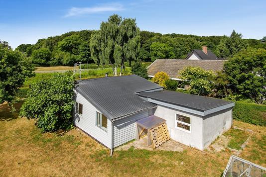 Villa på Skolevænget i Odder - Set fra haven