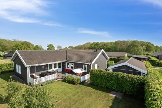 Villa på Bøgelunden i Odder - Set fra haven