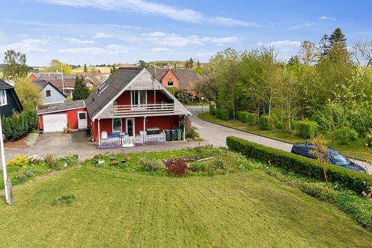 Villa på Bygaden i Odder - Set fra haven