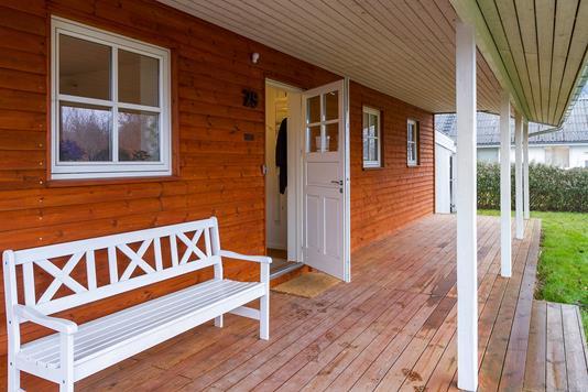 Villa på Fasanvænget i Jyllinge - Overdækket terrasse