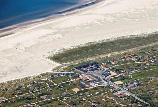 Fritidsbolig på Strandvejen i Fanø - Luftfoto