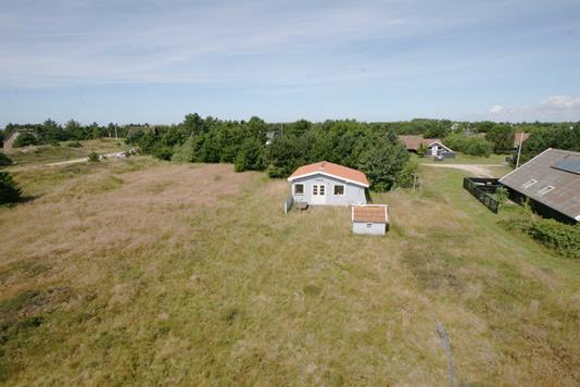 Fritidsbolig på Vesten Sandene i Fanø - Luftfoto