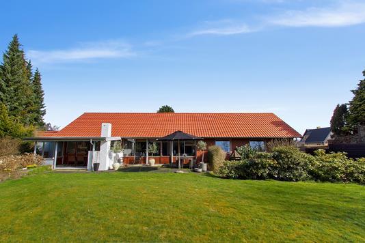 Villa på Rosenvangs Allé i Højbjerg - Set fra haven