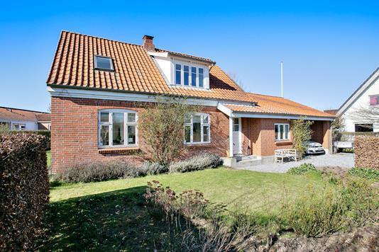 Villa på Tandervej i Mårslet - Set fra haven