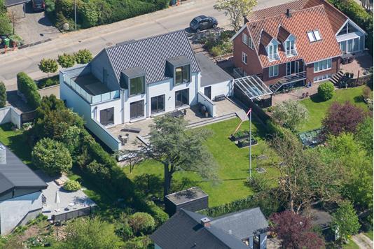 Villa på Capellavej i Højbjerg - Luftfoto