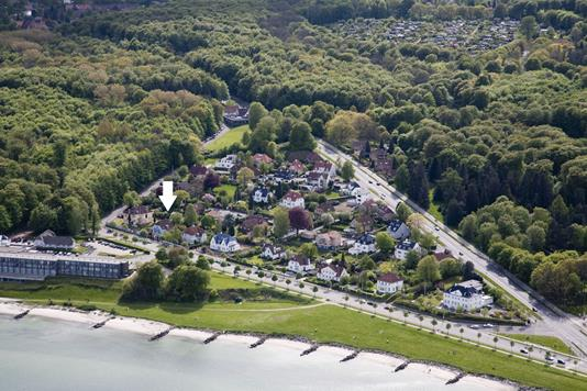 Villa på Strandvejen i Aarhus C - Luftfoto