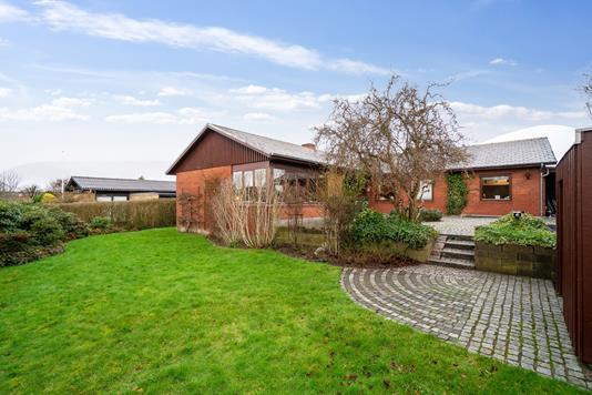 Villa på Spicavej i Højbjerg - Set fra haven
