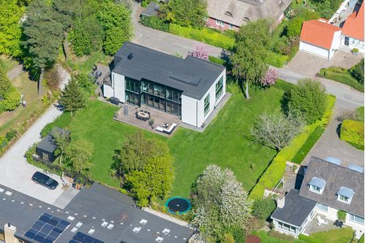 Villa på Bævervej i Højbjerg - Luftfoto