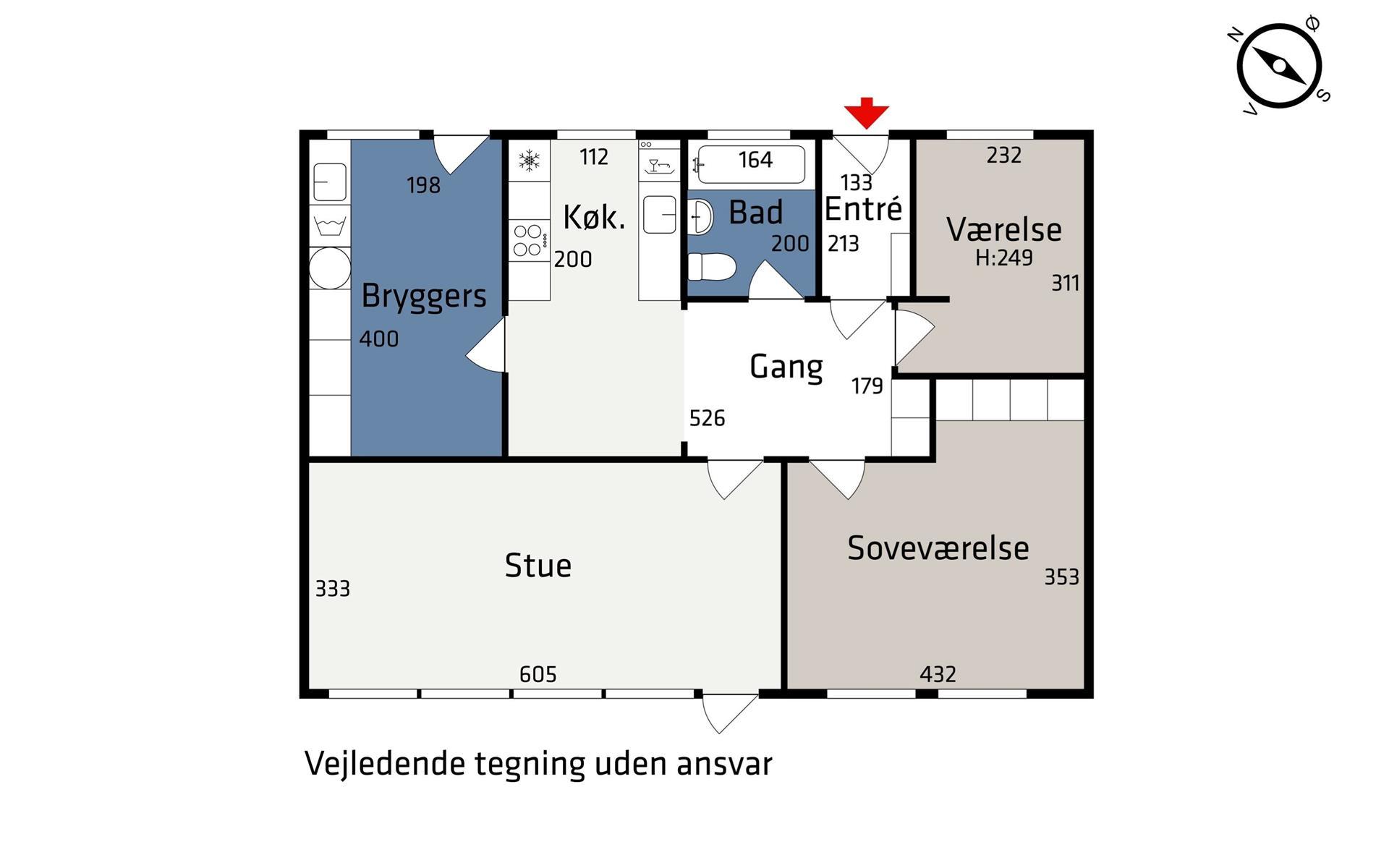 Rækkehus på Lundgårdsvej i Højbjerg - Plantegning