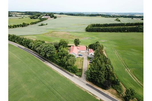 Villa på Risvej i Skanderborg - Luftfoto