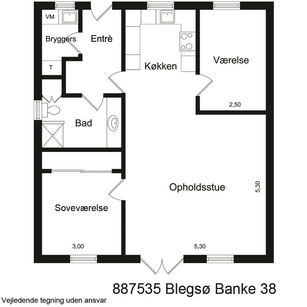 Andelsbolig på Blegsø Banke i Skanderborg - Plantegning