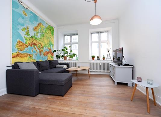 Ejerlejlighed på Odensegade i Aarhus C - Stue