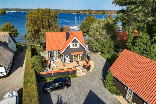 Villa på Strandgade i Svendborg - Luftfoto