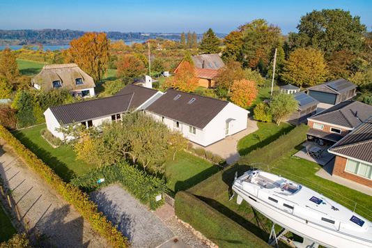 Villa på Ellen Marsvins Alle i Svendborg - Luftfoto