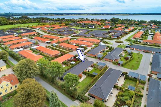 Andelsbolig på Krebsen i Svendborg - Luftfoto