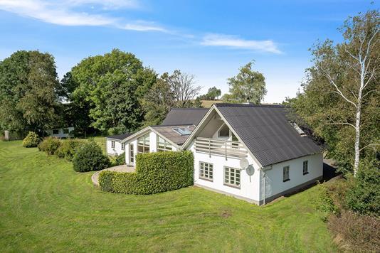 Villa på Løgeskov i Stenstrup - Set fra haven