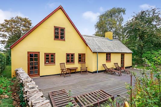 Villa på Alpevej i Stenstrup - Terrasse