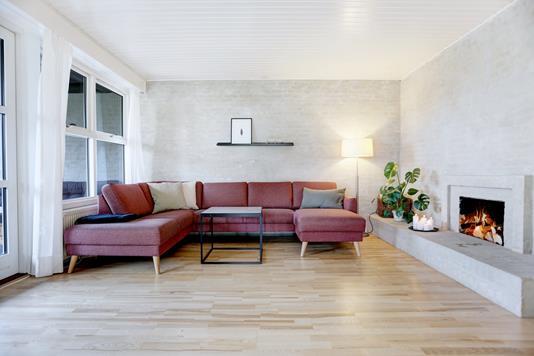 Villa på Hirsevej i Jyllinge - Stue