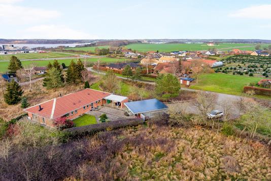 Villa på Rylevej i Mariager - Luftfoto