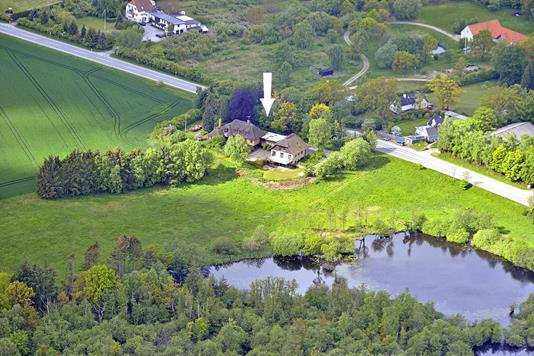 Villa på Hornbækvej i Tikøb - Luftfoto