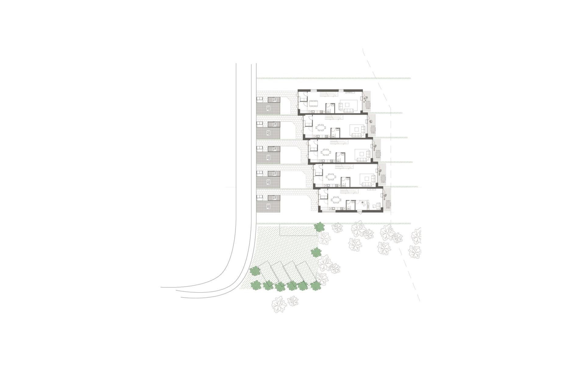Rækkehus på Mølleåparken i Kongens Lyngby - Plantegning