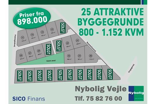 Helårsgrund på Præstegårdsvej i Vejle - Grund