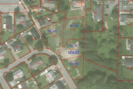 Helårsgrund på Skovvej i Bredsten - Oversigtskort