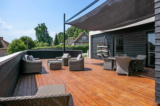 Villa på Niels Bentzens Alle i Vejle - Terrasse