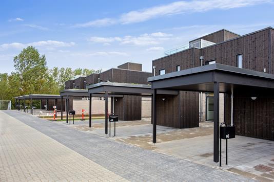 Rækkehus på Beddingen i Vejle - Set fra vejen